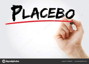 Hand writing Placebo with marker